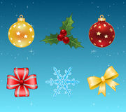 Christmas icons. Vector. Vector christmas icons. Six icons for Holidays Stock Images