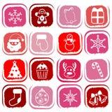 Christmas Icons Vector Stock Photography