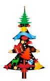 Christmas icons vector Stock Image