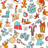 Christmas icons vector. Christmas set poster. 2017. New Year. Eve. Xmas Stock Images