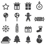 Christmas Icons, vector illustion flat design style. Christmas Icons on white background, vector illustion flat design style royalty free illustration