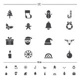 Christmas icons vector. Illustration of christmas icons vector royalty free illustration