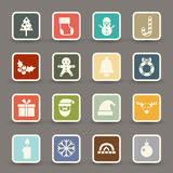 Christmas icons vector Stock Photo