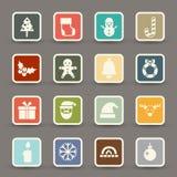 Christmas icons vector Stock Photo