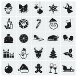Christmas icons. Vector illustration. Collection of 25 Christmas icons. Vector illustration Royalty Free Stock Photography