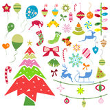 Christmas icons Stock Photography
