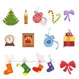 Christmas icons vector set Stock Photography