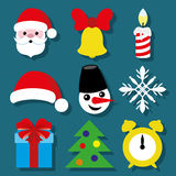 Christmas icons. Stock Images