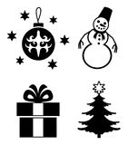 Christmas icons. Royalty Free Stock Image
