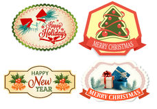 Christmas icons Vector set. Christmas icons and logos Vector set stock illustration