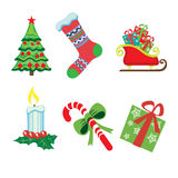 Christmas icons on white Stock Photography