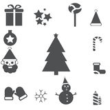 Christmas Icons with White Background Royalty Free Stock Image
