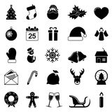 Christmas icons. On white background. Vector illustration Stock Photo