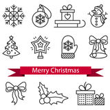 Christmas Icons with White Background. Stock Photography