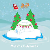 Christmas igloo at the evening Royalty Free Stock Photography