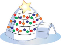 Christmas Igloo Royalty Free Stock Photos