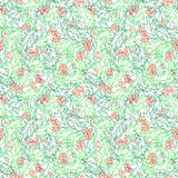 Christmas ilex seamless pattern. Hand-drawn traditional Christmas decoration. Boundless background can be used for web page backgrounds, wallpapers, wrapping Stock Photo