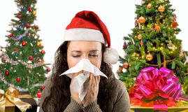Christmas illness royalty free stock image