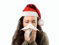 Christmas illness stock photography