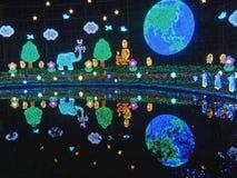 Seasonal Illumination in Ashikaga Flower Park. Christmas Illumination in Ashikaga Flower Park near Tokyo, Japan stock photography