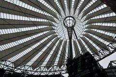 Christmas illumination decorating Sony Center in Berlin. BERLIN, GERMANY-DECEMBER 24, 2014: Christmas illumination decorating Sony Center in Berlin royalty free stock image