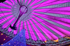 Christmas illumination decorating Sony Center in Berlin Royalty Free Stock Photos