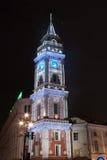 Christmas illumination of The Duma Tower Stock Photo