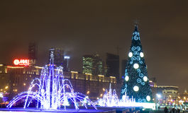 Christmas illumination in Moscow Royalty Free Stock Image