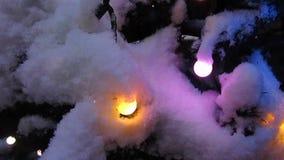 Christmas illumination stock footage