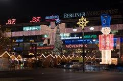 Christmas illuminations. BERLIN - DECEMBER 22: Christmas illuminations building Europa-Center, Kurfurstendamm, on December 22, 2011 in Berlin, Germany. The Royalty Free Stock Image