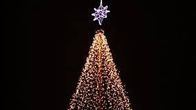 Christmas illuminations at abstract tree Stock Photos