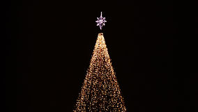 Christmas illuminations at abstract tree Royalty Free Stock Photos