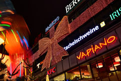 Christmas illuminations in Berlin Royalty Free Stock Photos