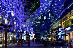 Christmas illuminations in Berlin Royalty Free Stock Images