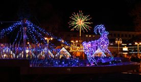 Christmas illuminations Stock Photography