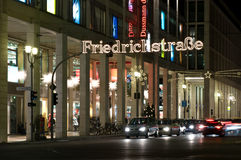 Christmas illuminations Friedrichstrasse Stock Photography