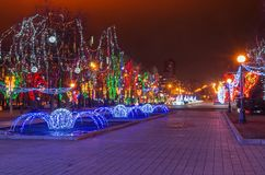 Christmas illuminations Royalty Free Stock Images