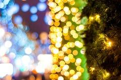 Christmas illuminations of London. On street stock image