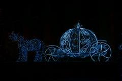 Christmas illuminations sculpture Royalty Free Stock Photos