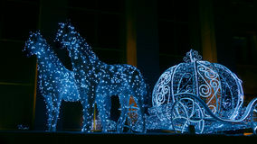 Christmas illuminations sculpture Stock Photography