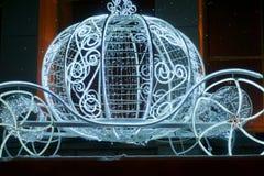 Christmas illuminations sculpture Royalty Free Stock Photography