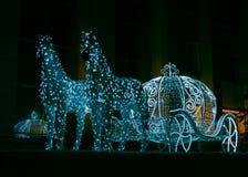 Christmas illuminations sculpture Stock Images