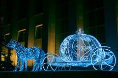 Christmas illuminations sculpture Royalty Free Stock Photo