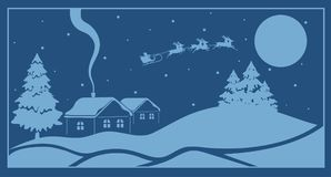 Christmas illustrated background. On the image presented Christmas illustrated background Stock Photo