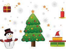 Christmas illustration. Various colorful Christmas illustration stock illustration