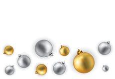Christmas illustration. Christmas globes illustration isolated on white Stock Photos