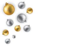 Christmas illustration. Christmas globes illustration isolated on white Royalty Free Stock Photography