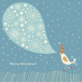Christmas illustration. Wintry christmas  song Royalty Free Stock Photos