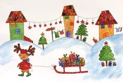 Christmas illustration Stock Photos