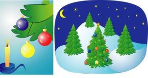 christmas illustration Στοκ φωτογραφία με δικαίωμα ελεύθερης χρήσης
